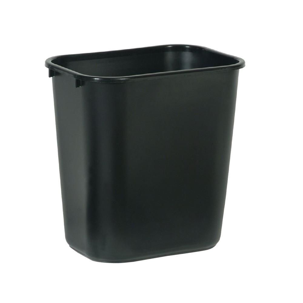 Rubbermaid Commercial Products 7 Gal Black Rectangular Trash Can Rcp295600bk Rubbermaid Commercial Products Waste Basket Rubbermaid