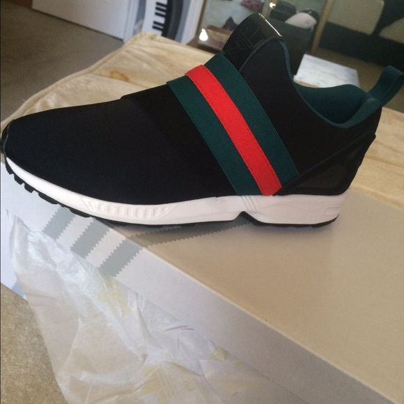 Adidas Shoes - Custom Gucci Adidas Zx Flux Slip on sneakers https://poshmark