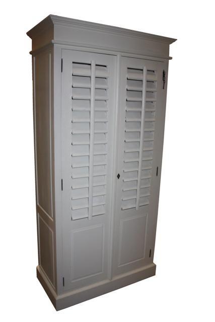 Kabinet Riviera 2 shutter deur (Mahonie)