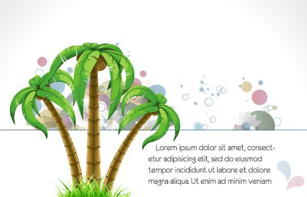 Abstract Summer Background Vector Illustration  #palm #tree #summer #leaf #vector #ornate #symbol #decoration # #background # #design # #plant #art #circle #hot #heat #decor #abstract #illustration #Elegant #artwork #creative #fake #image #holiday summer background Abstract Summer Background Vector Illustration