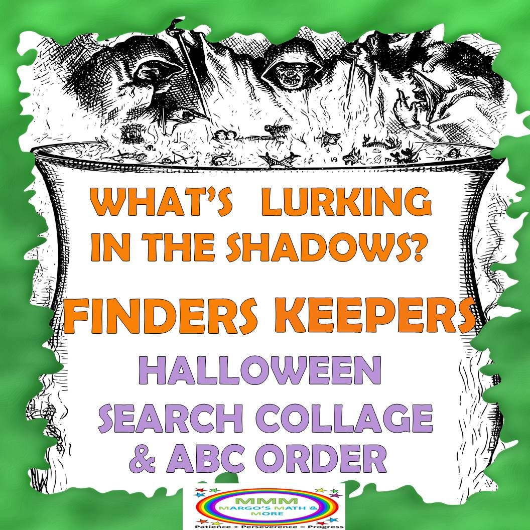 Halloween Finders Keepers Search Collage Amp Abc Order