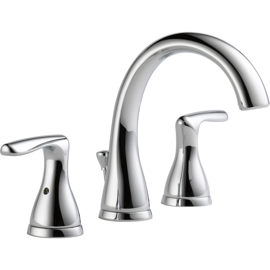 Dulcet Chrome 2 Handle Widespread Bathroom Faucet Sink Faucets