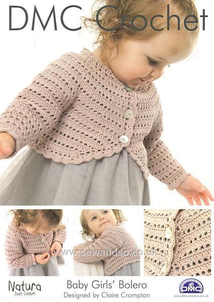 Baby Girls Bolero Crochet Pattern | bimba | Pinterest | Kinder ...