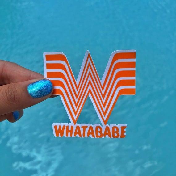 Whatababe Etsy Stickers Etsy Whataburger