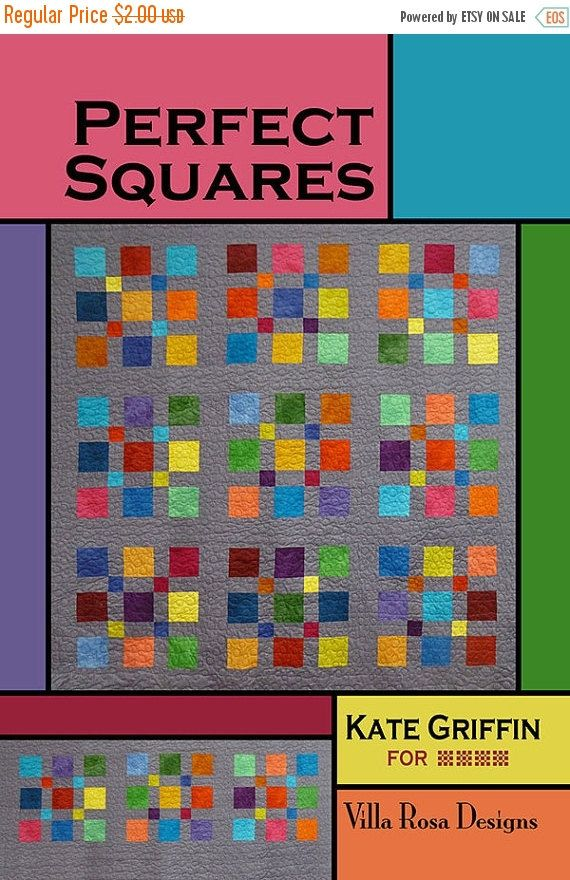 CIJ SALE PERFECT Squares Quilt Pattern  Villa Rosa by Jambearies