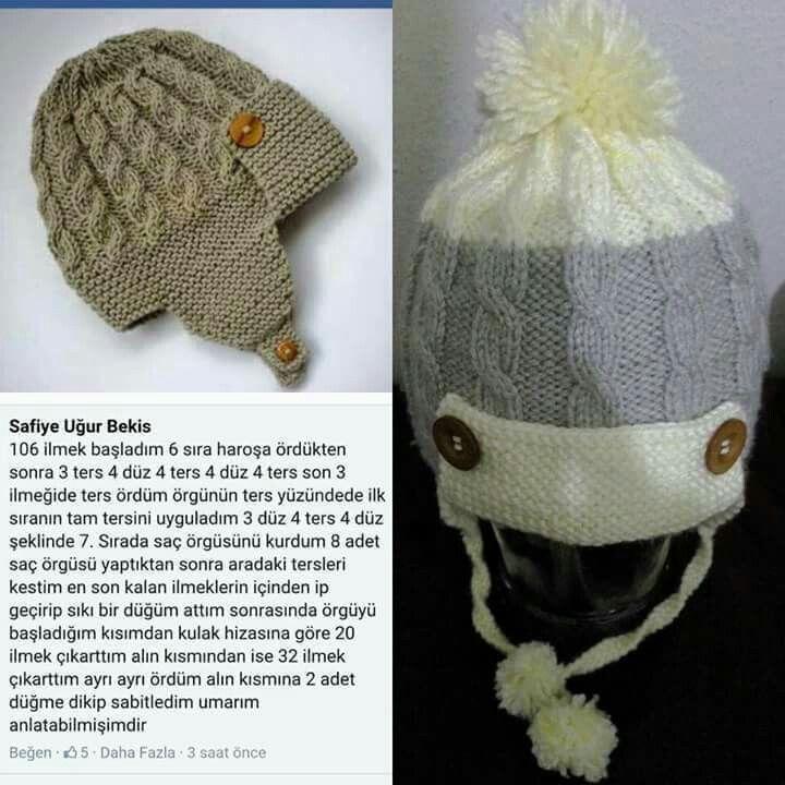 Bere modeli | bere & atkı | Pinterest | Tejido en crochet, Gorros y ...
