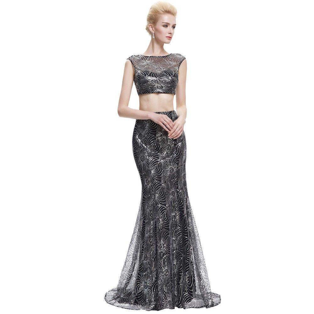 Sexy abendkleid zweiteilig in schwarz abendkleider günstig