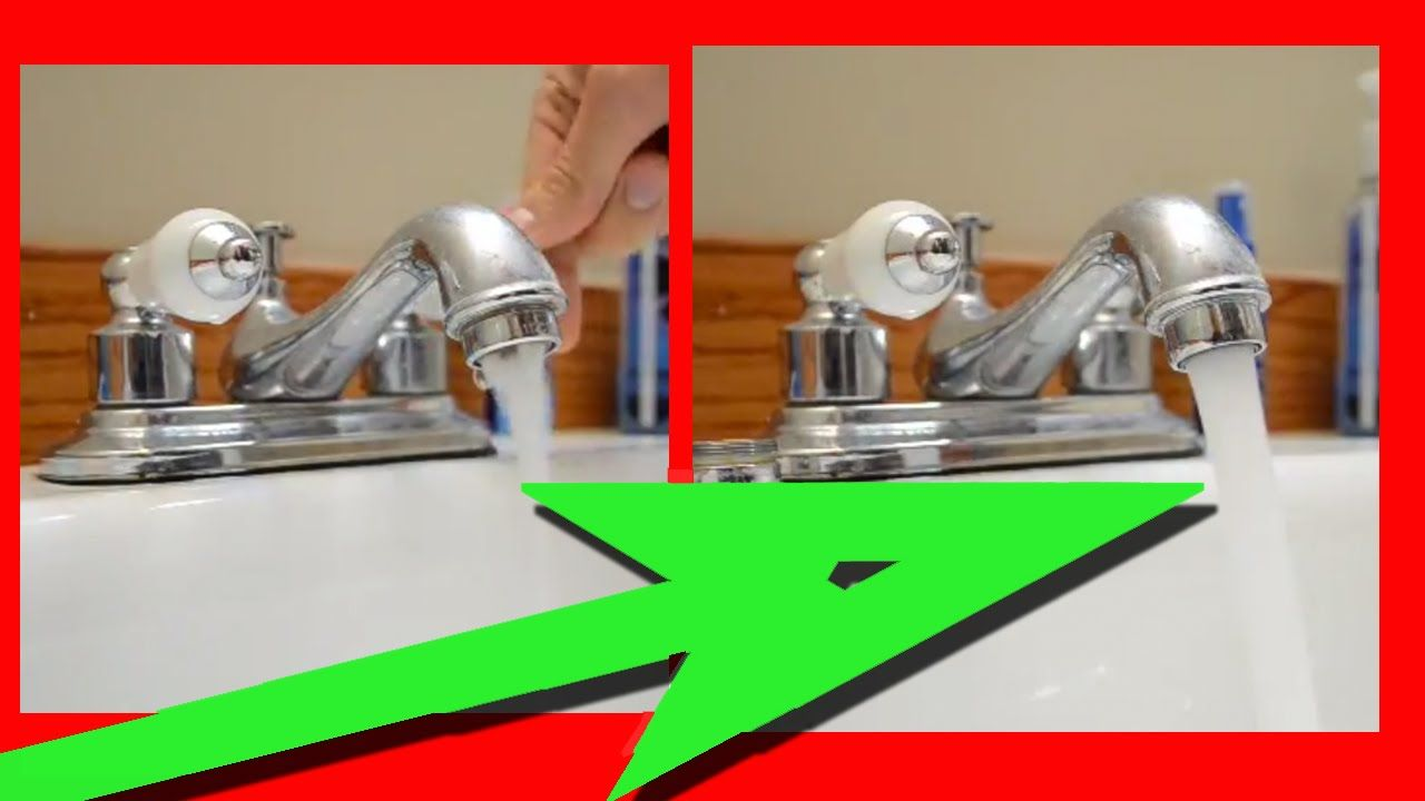 How To Fix A Faucet With Low Water Pressure Video This Video Shows How For 5 You Can Fix Water Pressure On Your Bathroom Sink Kitchen Faucet Bathroom Faucets