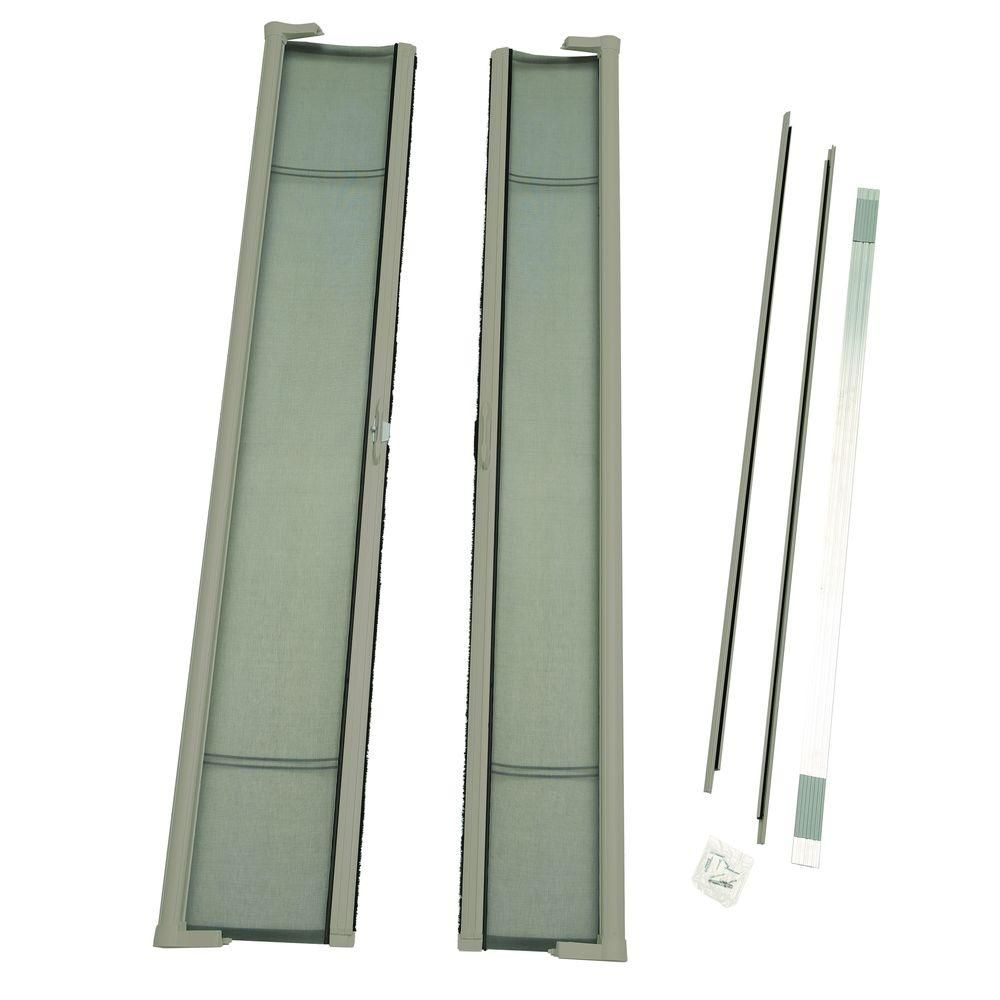 Odl Brisa Sandstone Brown Tall Retractable Screen Door Double