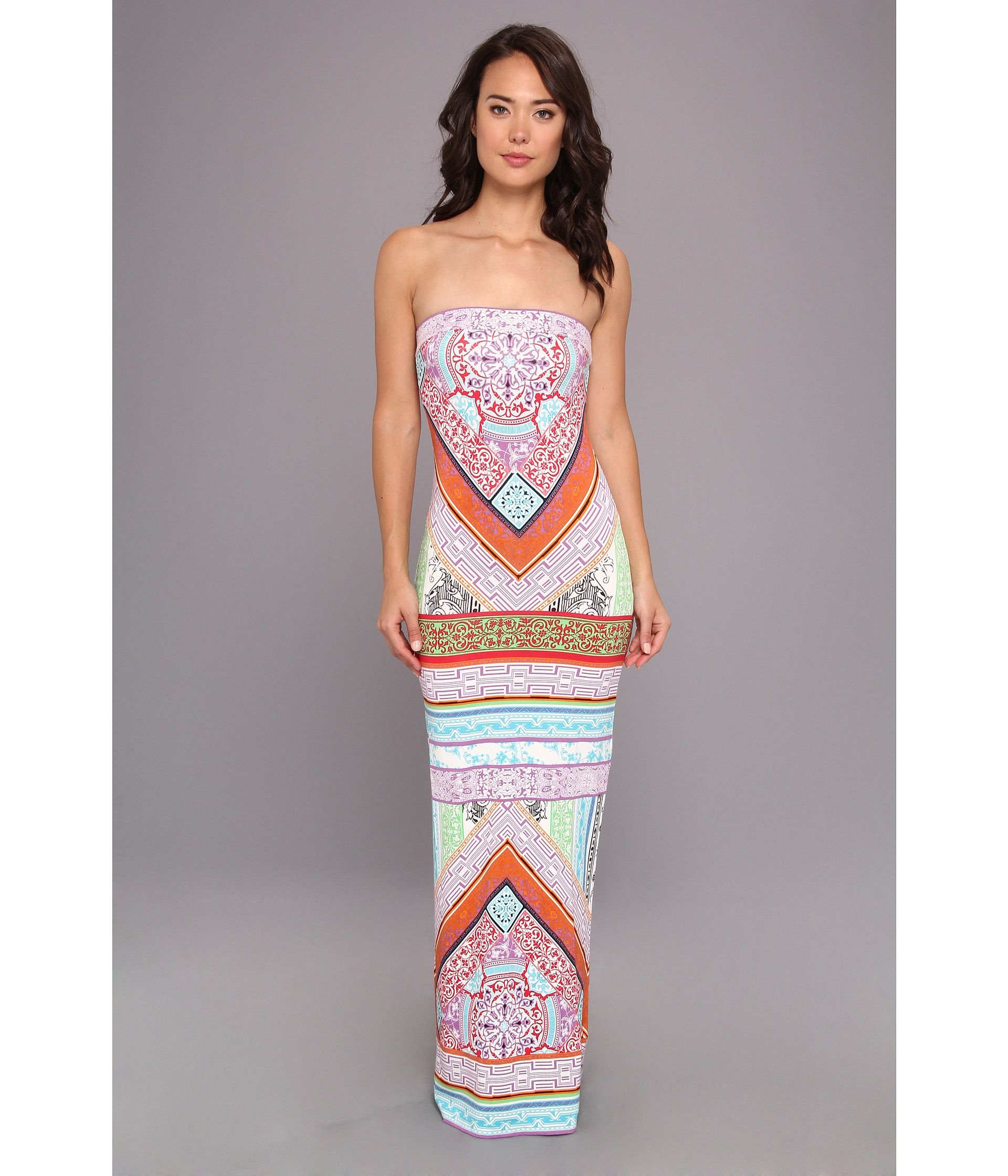 95502e9c373be8 Strapless Tube Maxi Dress | hale bob summer solstice strapless maxi tube  dress