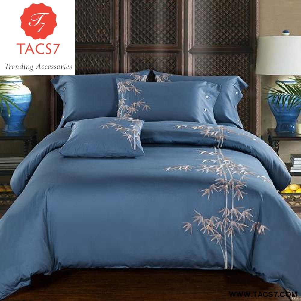 Luxury Egypt Cotton Exquisite Bedding Set Embroidered Bed Duvet Cover Sheet Pillowcases Queen King