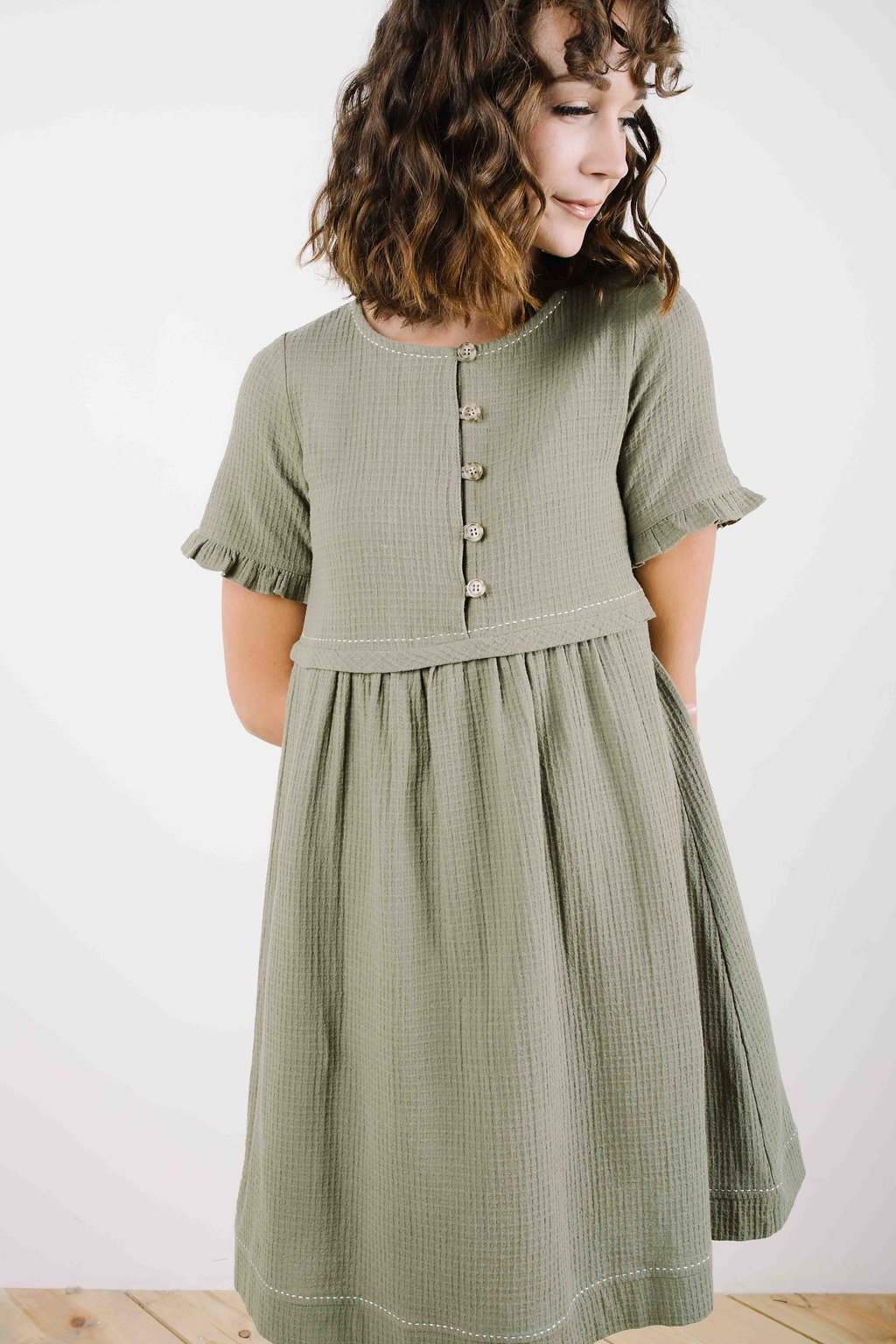 1a68a489 Peasant Dress in Olive Green in 2019 | Fashion Ideas | Dresses ...