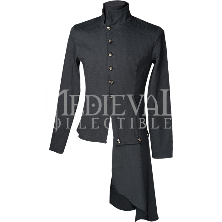 Black Gothic Officer Shirt - DR-1201 by Medieval Collectibles