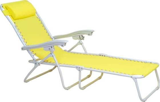 Superbe Aluminum Foldable Sun Beach Chair , Chaise Lounge For Outdoors
