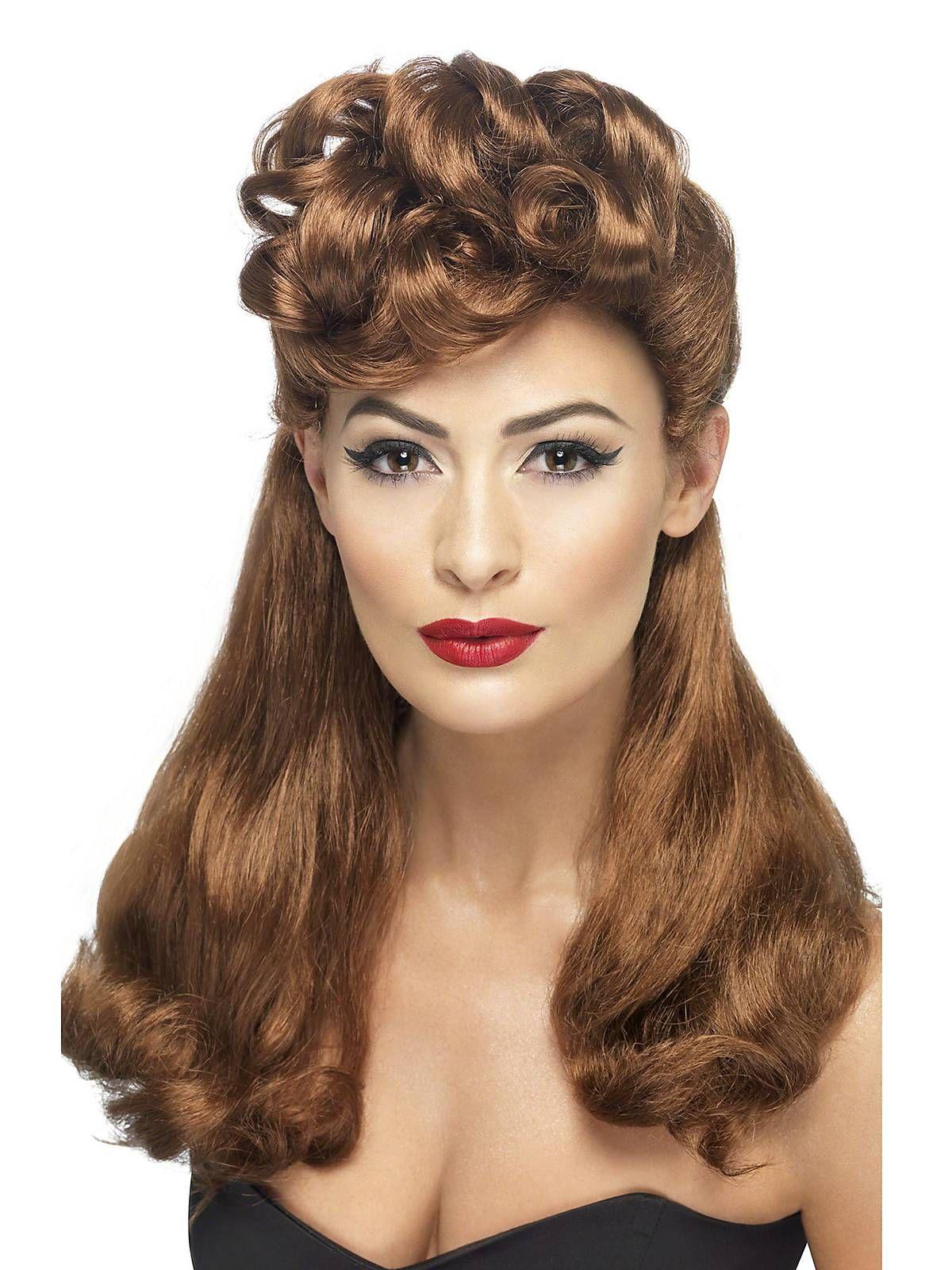 Women s 1940 s Vintage Auburn Wig