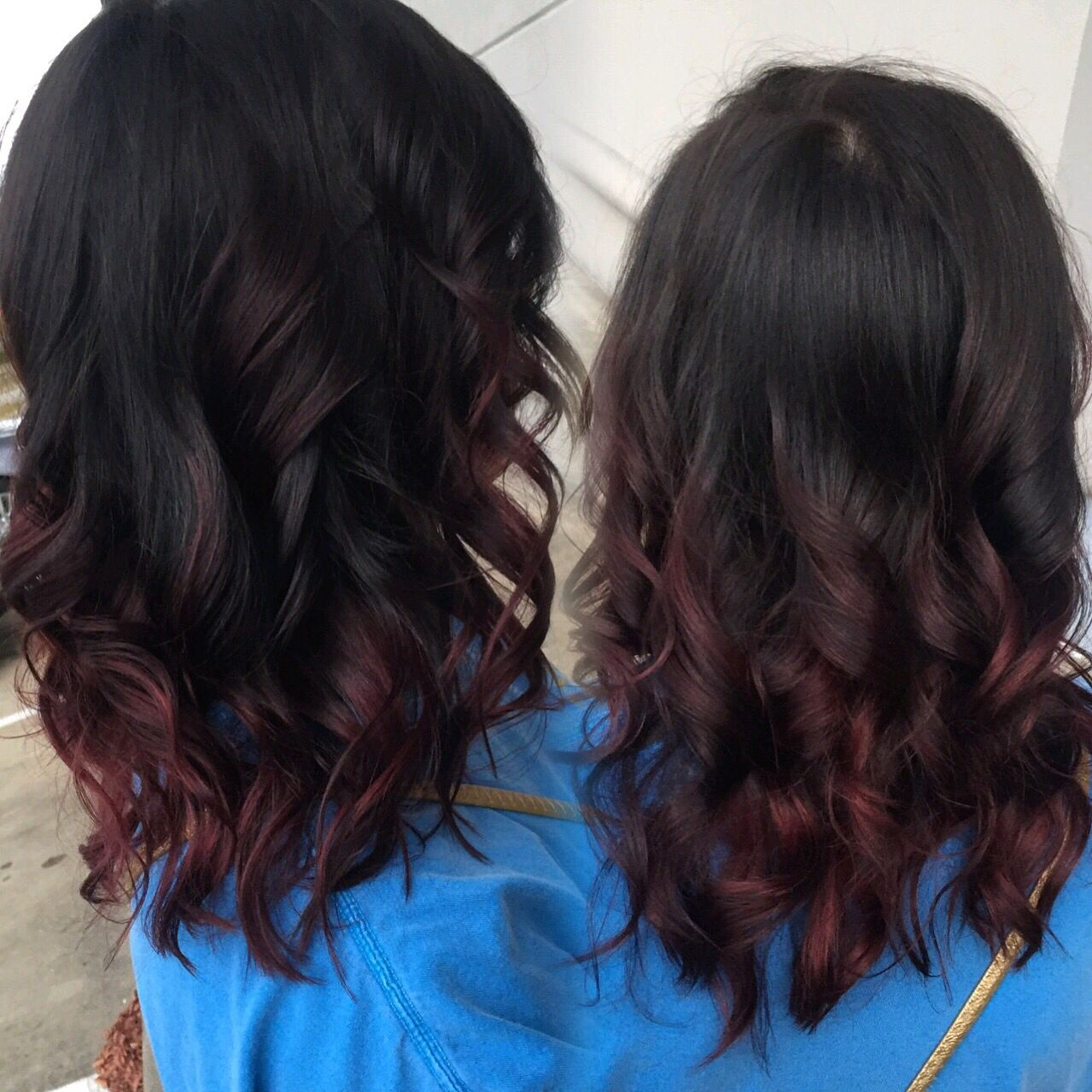 Dark brown to red balayage ombré hairmakeupnails pinterest