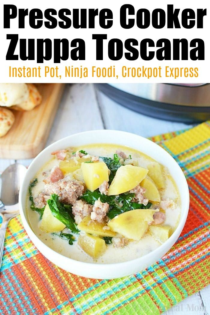 Pressure cooker zuppa toscana soup is fabulous.