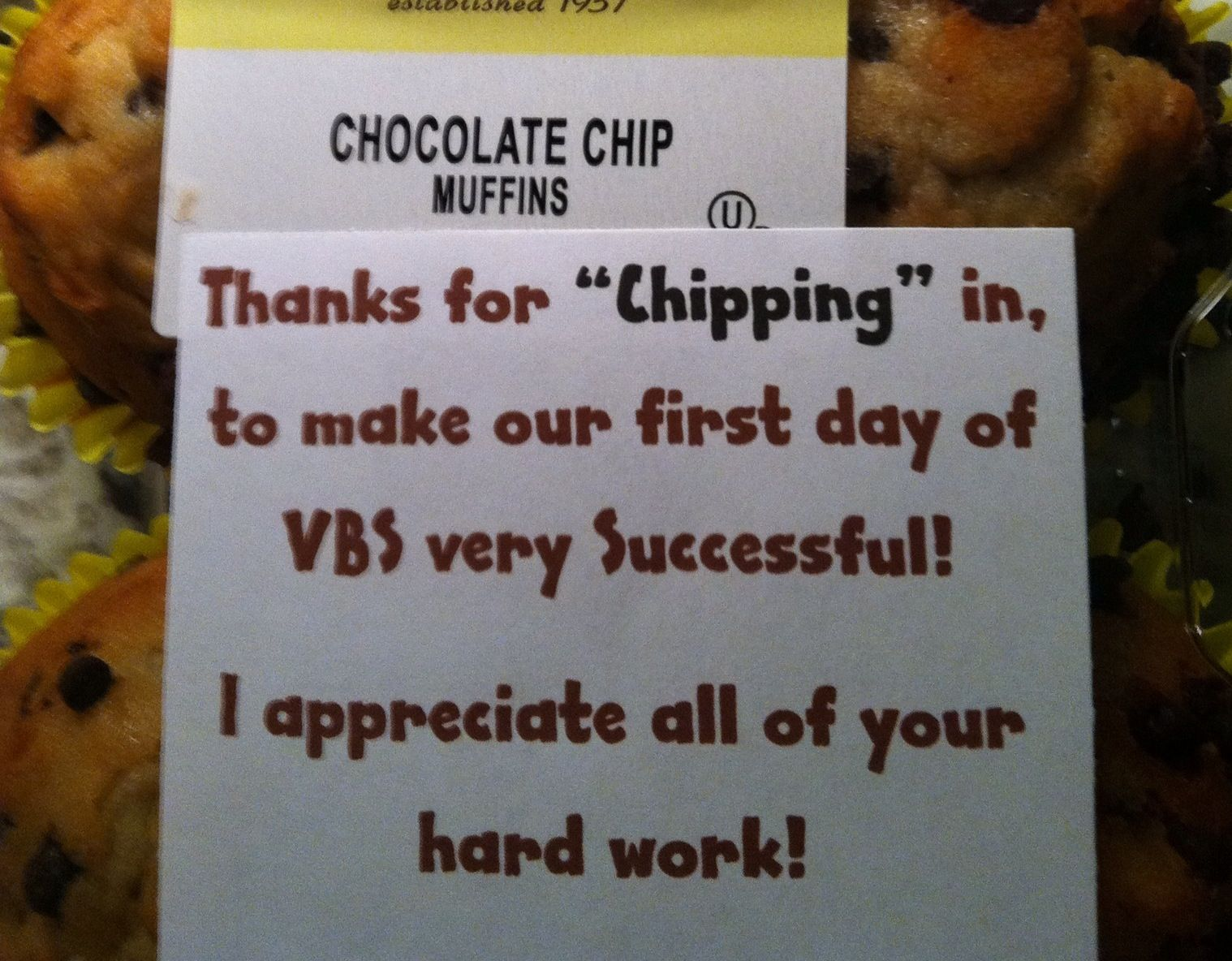 Lil Thank you gift for my VBS Teachers! | Giving from the