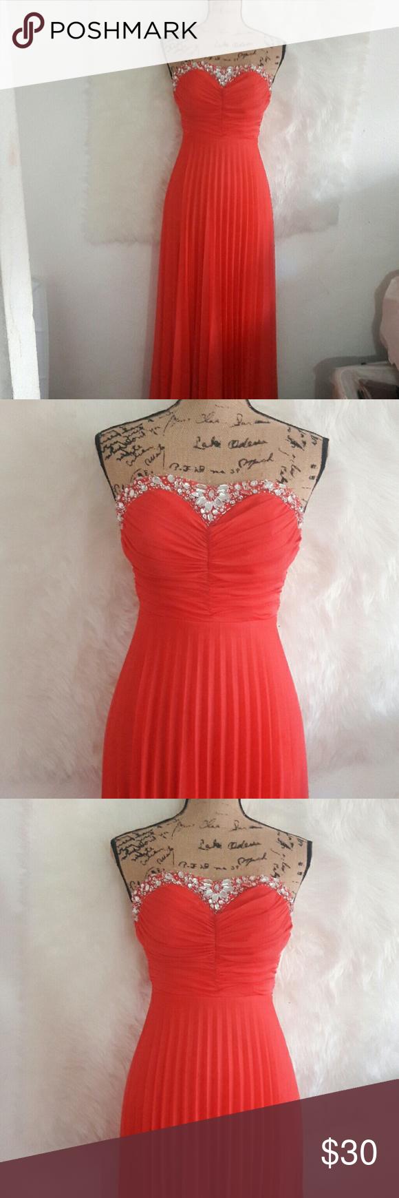Beautiful coral embelished homecoming dress homecoming dresses