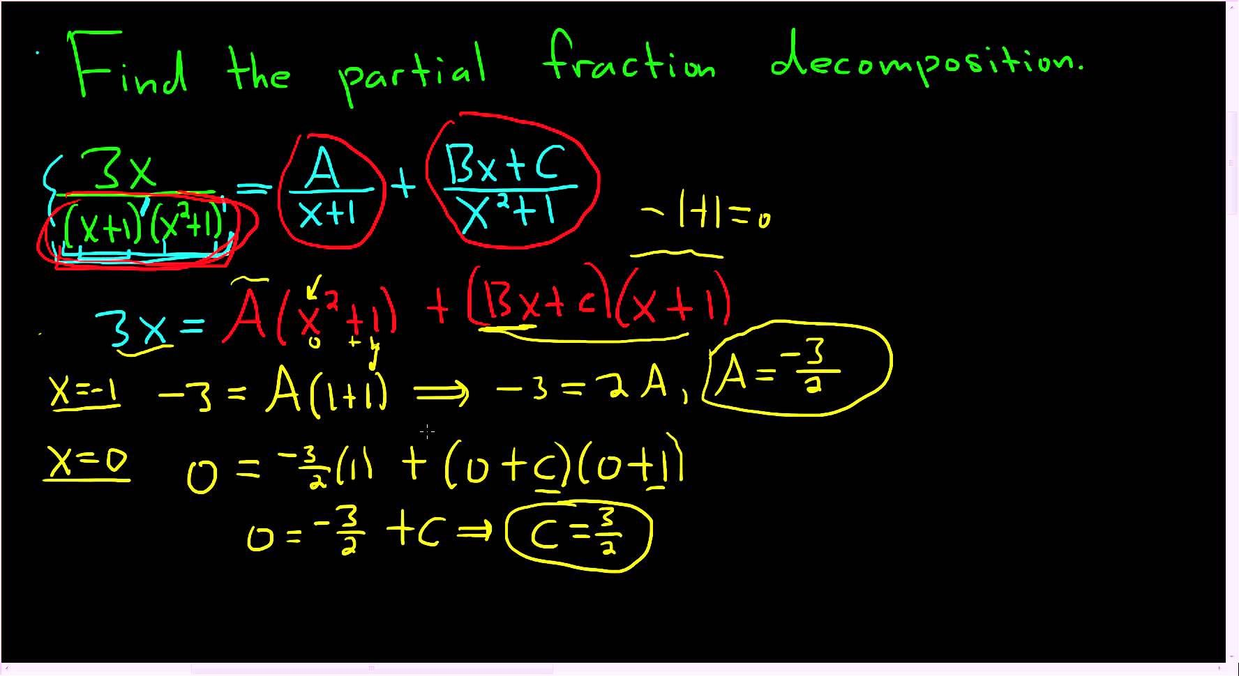 Find the partial fraction 3xx 1x2