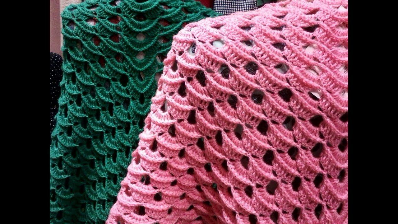 вязание крючком платка узоры и схемы