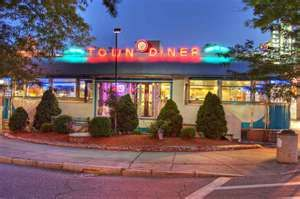 Town Diner - Watertown Mass.  The best diner in the world, and a cure for your hangovers.  Be prepared to wait in line.