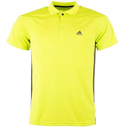 adidas Herren Poloshirt Clima Ess 3S, Semi Solar Yellow, L