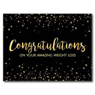 stylish gold black diet and weight loss congratulations award