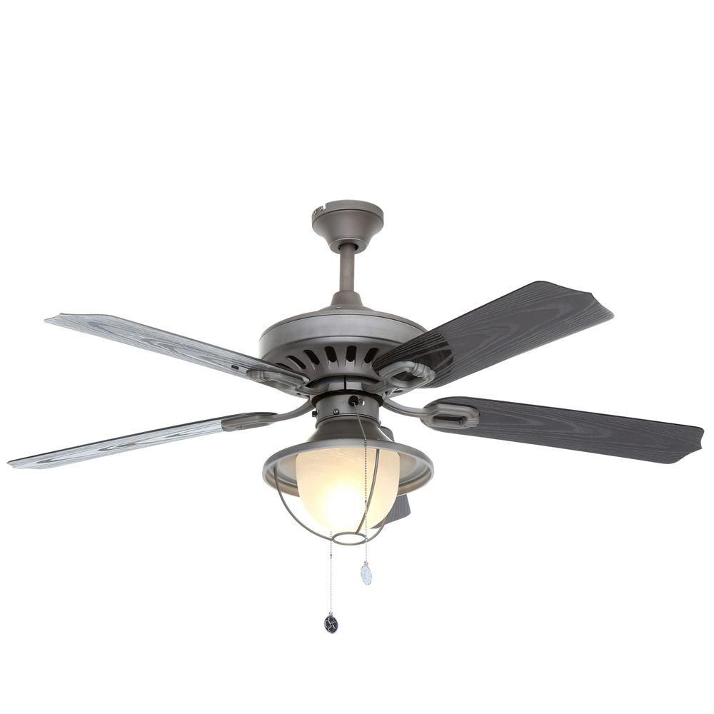 Indoor Outdoor Antique Pewter Ceiling Fan 7877965 The Home Depot