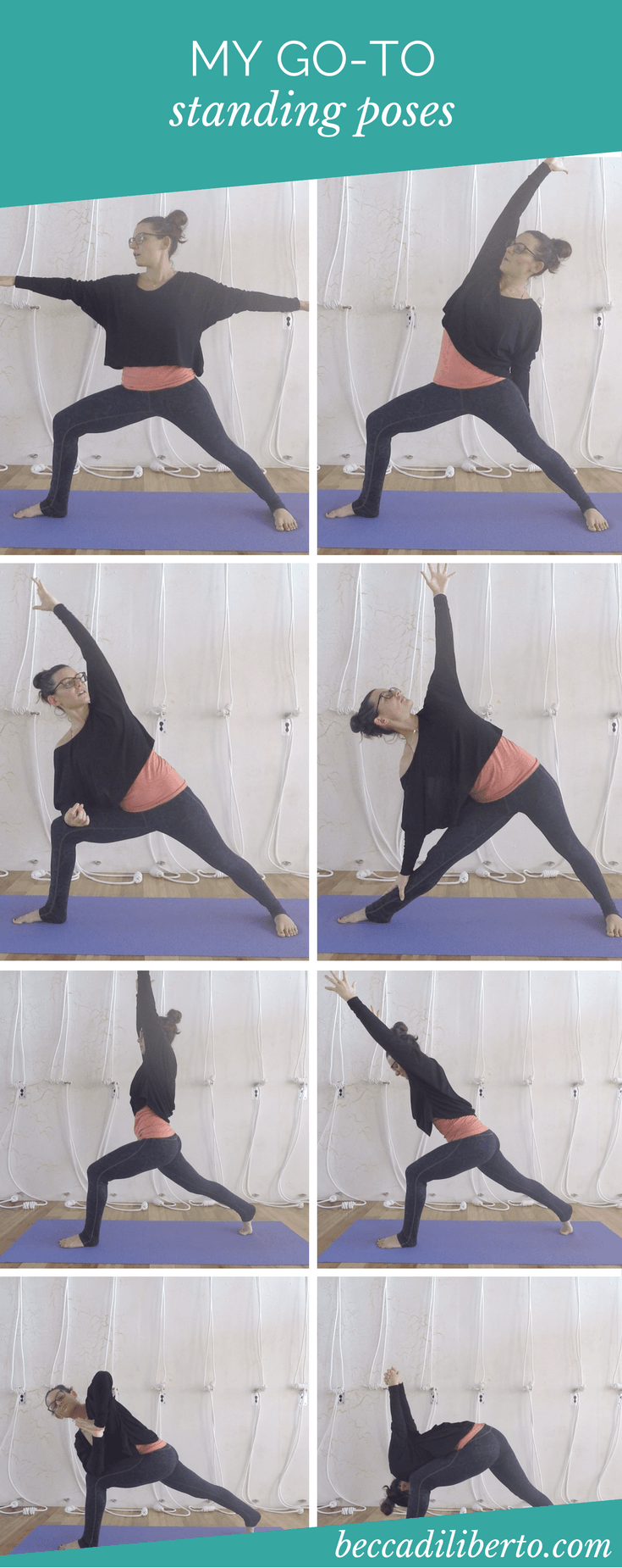 learn two easy-to-memorize standing pose sequences for your home yoga practice | click to watch the video