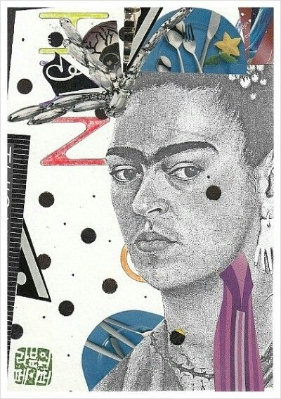 Mailart : FRIDA KAHLO A WOMAN IN THE FUTURE
