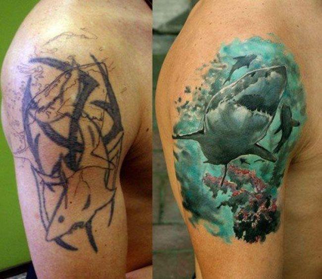 Selection De 20 Superbes Covers Inkage Tatouage Couverture Tatouage Couvrir Tatouage Homme