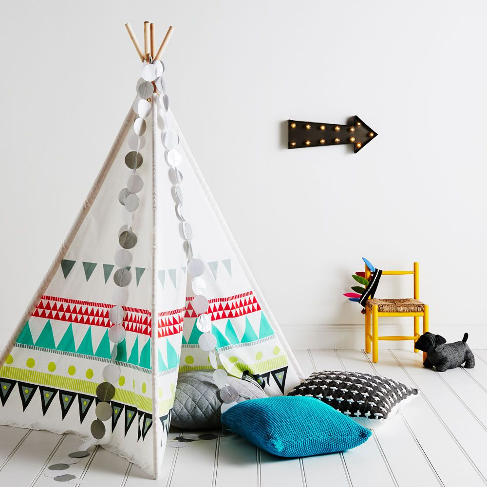 adairs kids geo teepee adairs kids online child interiors colourful and fun pinterest. Black Bedroom Furniture Sets. Home Design Ideas