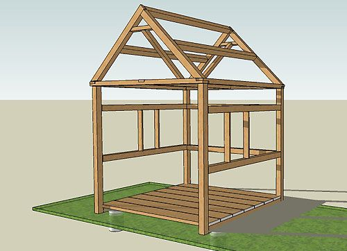 construction-abri-de-jardin Diy Pinterest Construction, Wood - construire un cabanon de jardin en bois