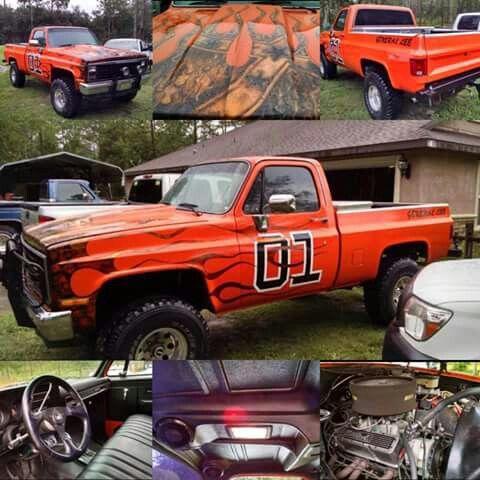 85' General Lee | Chevy 4x4, Chevy trucks, Cars trucks