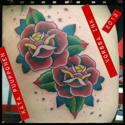 https://www.facebook.com/VorssaInk, http://tattoosbykata.blogspot.fi, #tattoo #tatuointi #katapuupponen #vorssaink #forssa #finland #traditionaltattoo #rose #oldschool