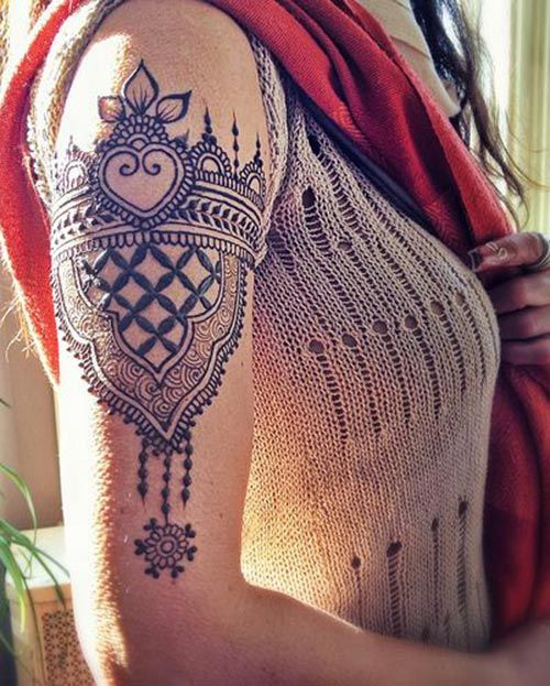 20 best shoulder mehndi designs for those who love to experiment mehndi mehndi designs and. Black Bedroom Furniture Sets. Home Design Ideas
