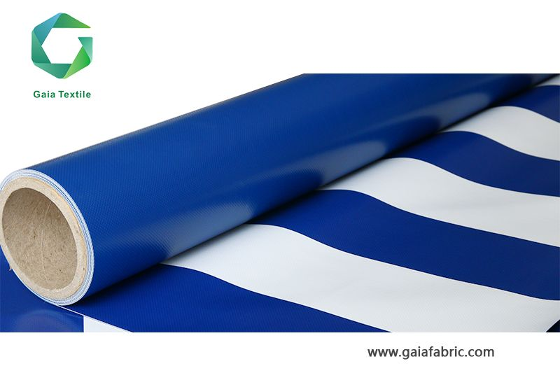 PVC Coated Strip Tarpaulin Fence (1000D*1000D 18*18/20*20/23*23) come from www.gaiafabric.com