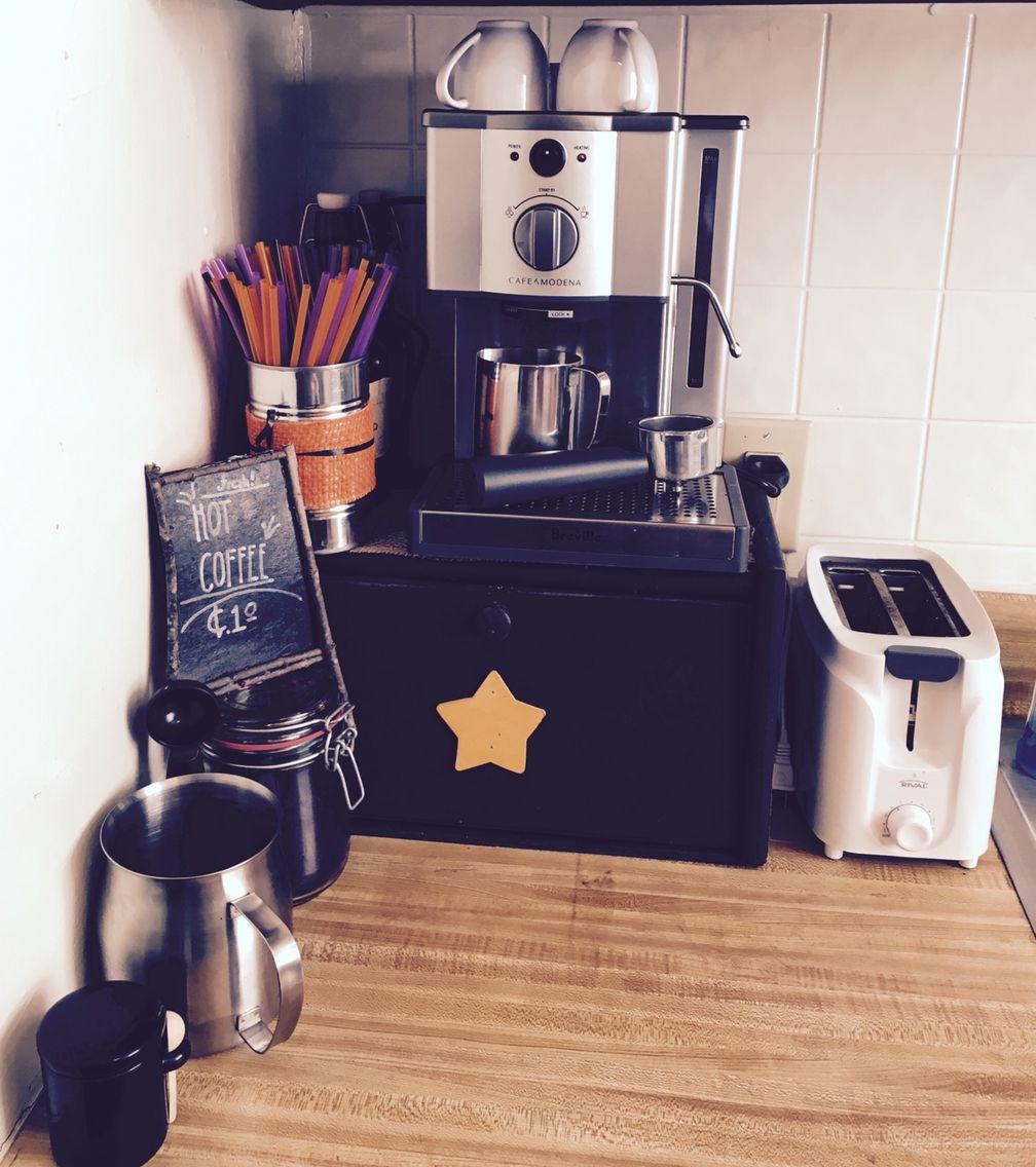 My humble Fall Espresso Coffee Station. Mmmmm.