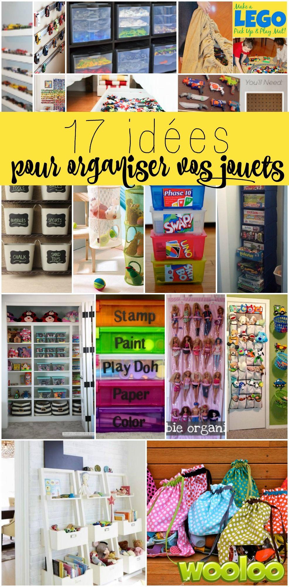 Je suis tellement à boutte de ramasser derrière les enfants! Sérieux... J'ai donc décidé de leur créer de beaux endroits dédiés pour ranger efficacement leurs jouets. Voici quelques idées pour vous inspirer vous aussi!