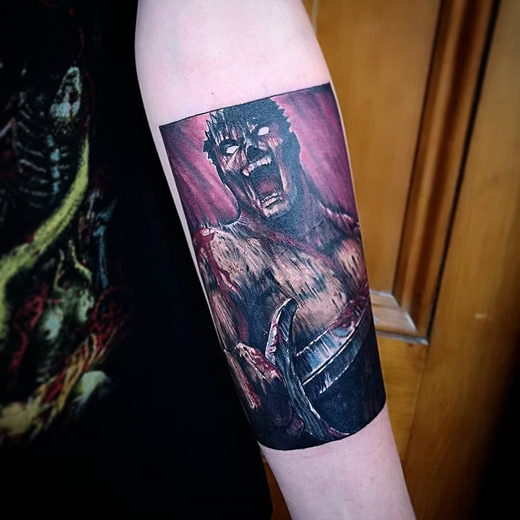 First Tattoo Guts From Berserk Tell Me Your Thoughts Berserk Tattoos Manga Tattoo First Tattoo