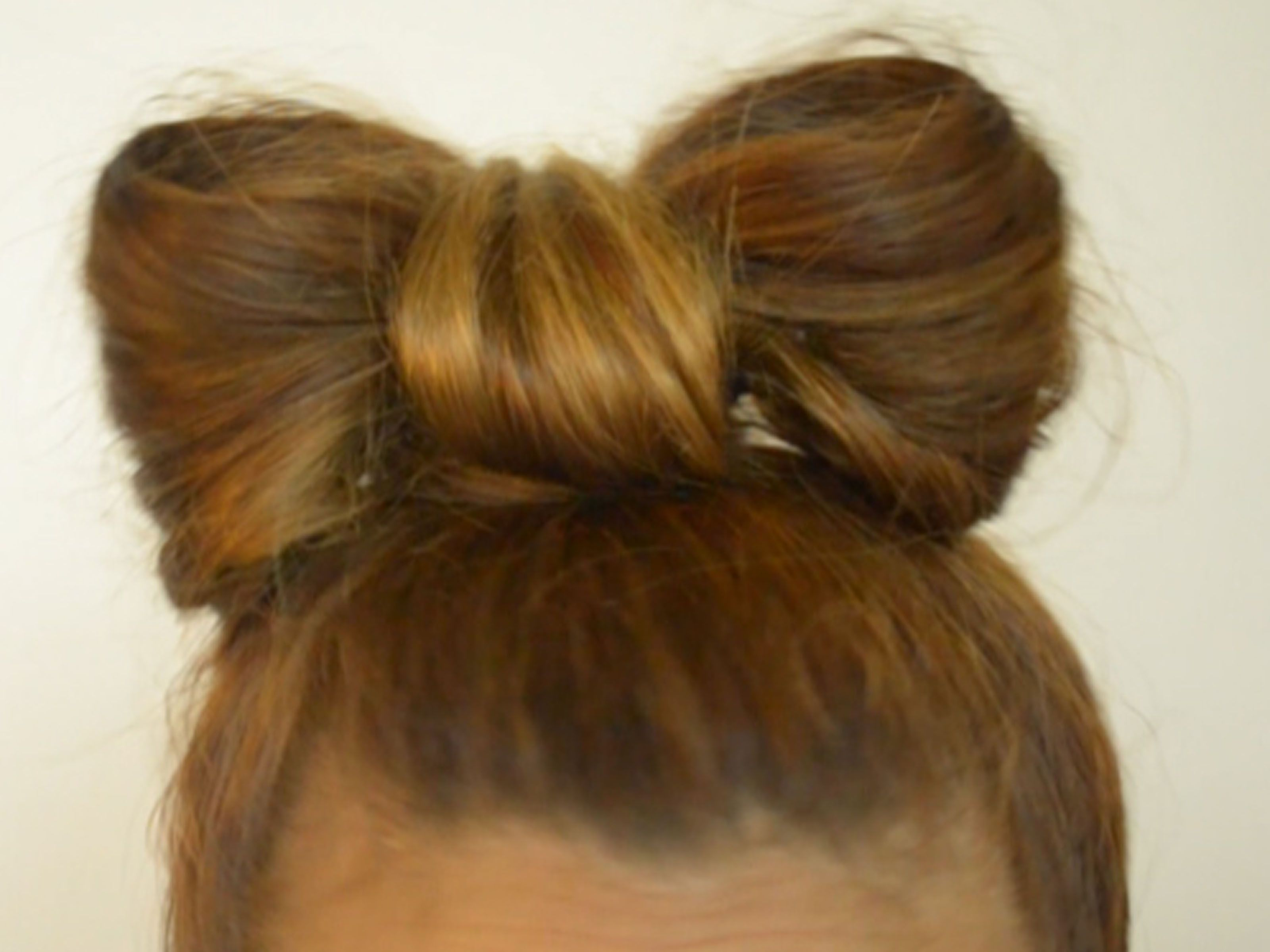 Make a bow out of your hair hair style and makeup make a bow out of your hair urmus Choice Image