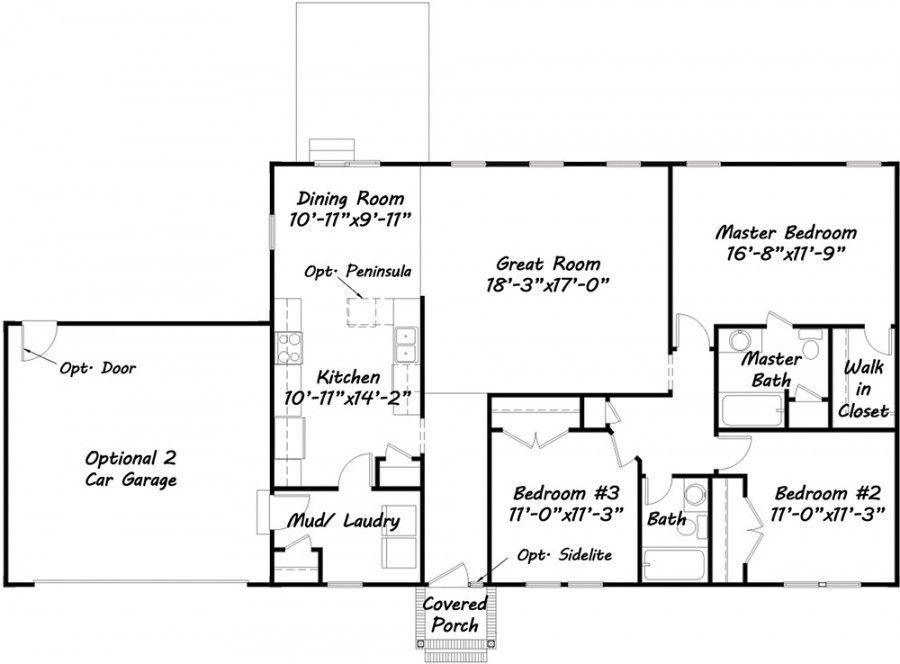 Custom Built Homes Floor Plans, Most Popular One Level House Plans