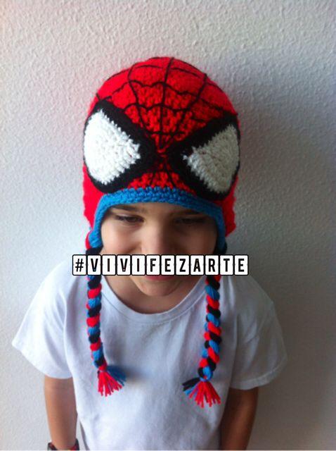Spiderman crochet hat #ateliervivifezarte | Crochet | Pinterest ...