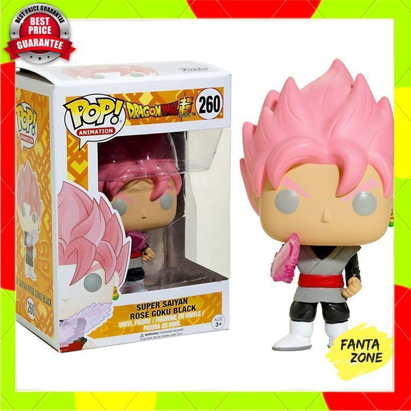 #260 PVC Figure Toy Anime Dragon Ball Z Super Saiyan Rose Goku Black FUNKO POP