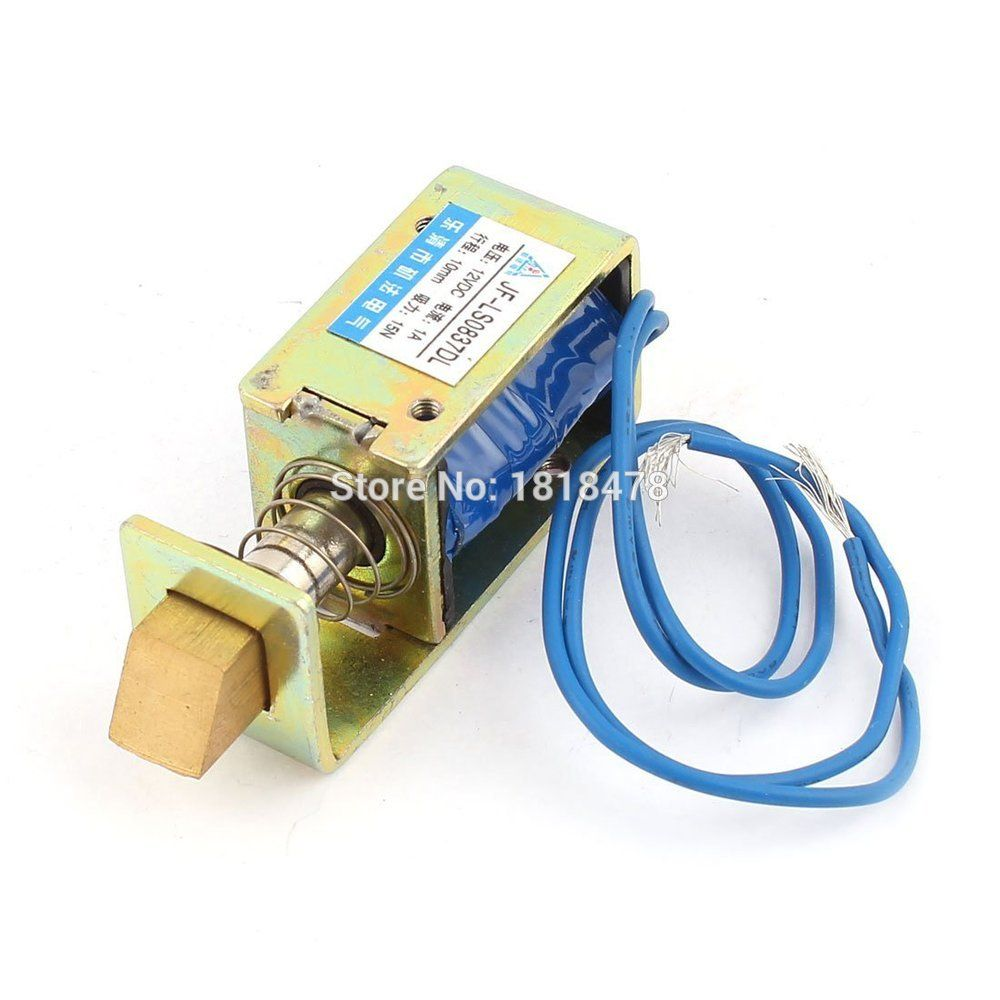 Jf S0837dl Dc 12v 1a 10mm Stroke 15n Force Open Frame Type Solenoid For Electric Door Lock Open Frame Electromagnet Frame