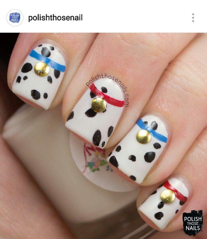 101 dalmatians nail art nail designs pinterest 101 101 dalmatians nail art prinsesfo Images