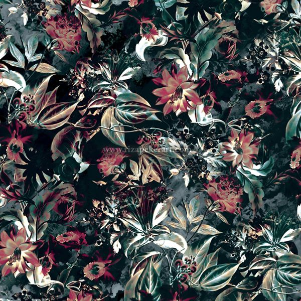 Space garden seamless floral pattern fashion fabric for Space pattern clothing