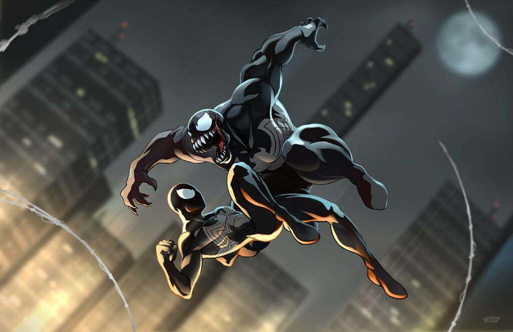 Spiderman & Venom | Spider, Spiderman, Spiderman art