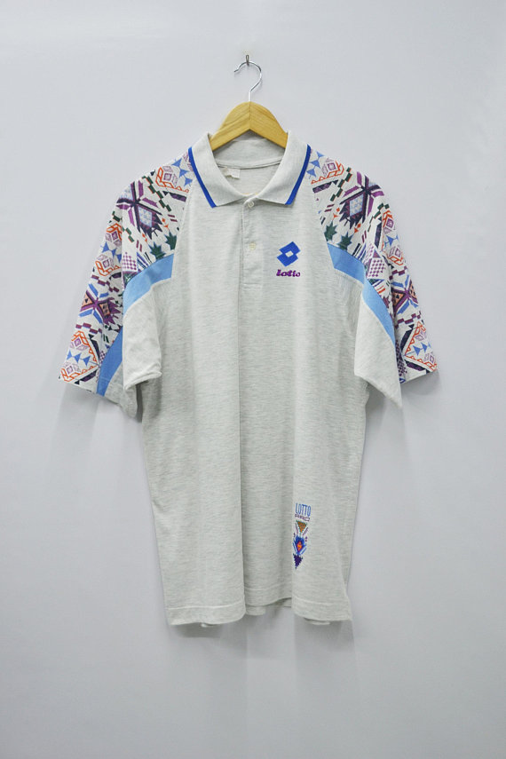 09aed9caff1 Lotto Shirt Lotto Polo Shirt Size L Vintage 90 s Lotto Pro Boris Becker  Made in Italy Polo Shirt